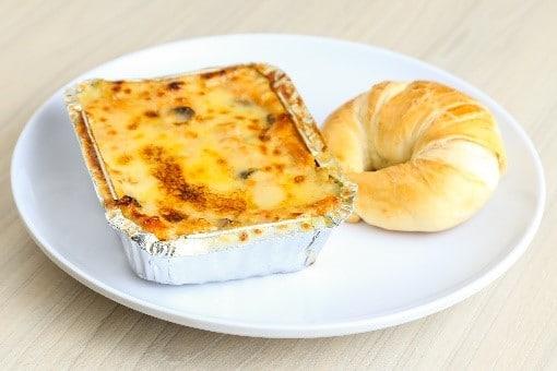 almuerzo empresarial lasagna de pollo